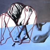 Fizyka, 55x80 cm, akryl na płótnie, 2014 r. NIEDOSTĘPNY