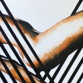 Spazmy, 66x150 cm, akryl na płótnie, 2017 r. NIEDOSTĘPNY