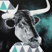 Taurus, 100x70 cm, akryl na płótnie, 2018 r.