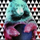 Wielka niedźwiedzica, 100x70 cm, akryl na płótnie, 2017 r. NIEDOSTĘPNY