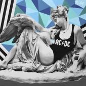 """Gromowładni, cykl: """"Perypetie XXI wieku"""", 90x120 cm, akryl na płótnie, 2018 r, NIEDOSTĘPNY"""