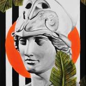"""Egzotyk, cykl: """"Perypetie XXI wieku"""", 40x80 cm, akryl na płótnie, 2019 r."""