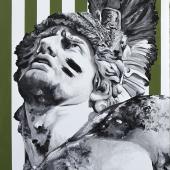 """Nieśmiertelny,  cykl: """"Perypetie XXI wieku"""", 80x50 cm, akryl na płótnie, 2018 r. NIEDOSTĘPNY"""