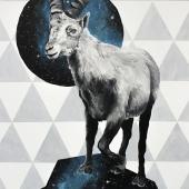 Capricornus, 100x70 cm, akryl na płótnie, 2017, NIEDOSTĘPNY