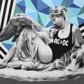 """Gromowładni, cykl: """"Perypetie XXI wieku"""", 90x120 cm, akryl na płótnie, 2018 r NIEDOSTĘPNY"""