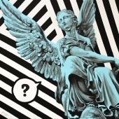 """A znajdziecie, cykl: """"Perypetie XXI wieku"""", 60x60 cm, akryl na płótnie, 2018 r. NIEDOSTĘPNY"""