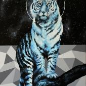 Astro tiger, 100x70 cm, akryl na płótnie, 2018 r. NIEDOSTĘPNY