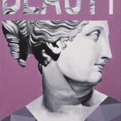 """Beauty, cykl: """"Perypetie XXI wieku"""", 60x40 cm, akryl na płótnie, 2018 r. NIEDOSYĘPNY"""