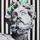 """Colors of life, cykl: """"Perypetie XXI wieku"""", 73x50 cm, akryl na płółtnie,  2018 r. NIEDOSTĘPNY"""