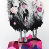 Hodowlany infantylizm, 100x70 cm, akryl na płótnie, 2016 r. NIEDOSTĘPNY
