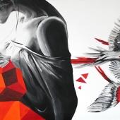 Nieostrożność, 50x100 cm, akryl na płótnie, 2016 r. NIEDOSTĘPNY