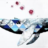 Przodek Mobydicka, 60x120 cm, akryl na płótnie, 2016 r. NIEDOSTĘPNY