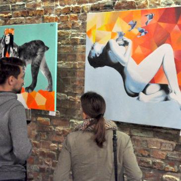 """Wystawa indywidualna """"Punkty stałe"""" w Żywej Galerii w Artbistro w Warszawie"""