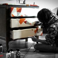making of z malowania komody dla Art PoPo
