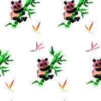 """wzór """"Panda z bambusem"""""""