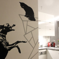"""projekt """"Chart geometryczny"""" w mieszkaniu klienta"""