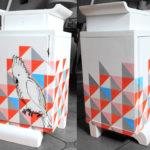 Szafka z papugą, wykonana dla Dwie Baby, NIEDOSTĘPNA